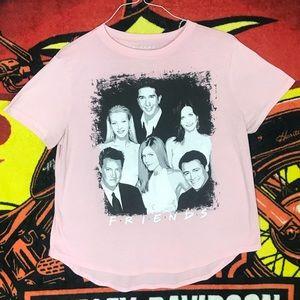 Friends TV Show Crewneck Tee Shirt Pink XL